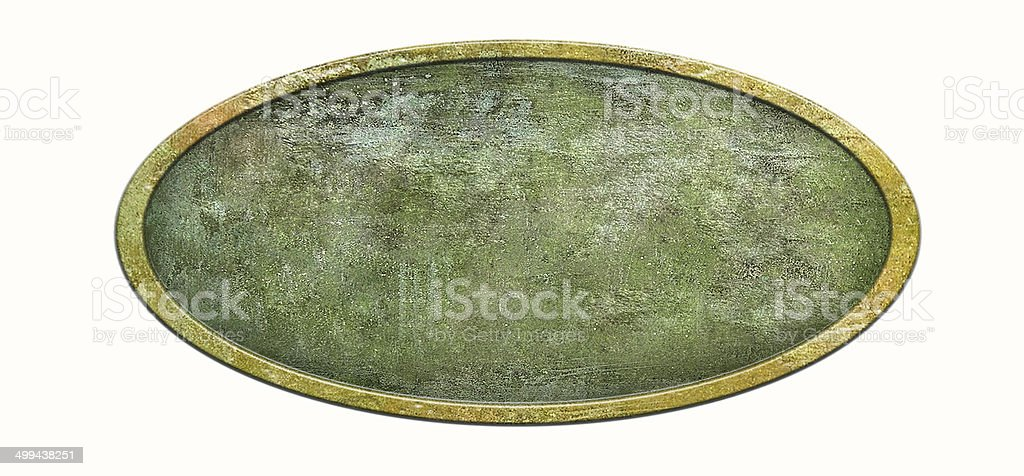 Metal sign plate stock photo