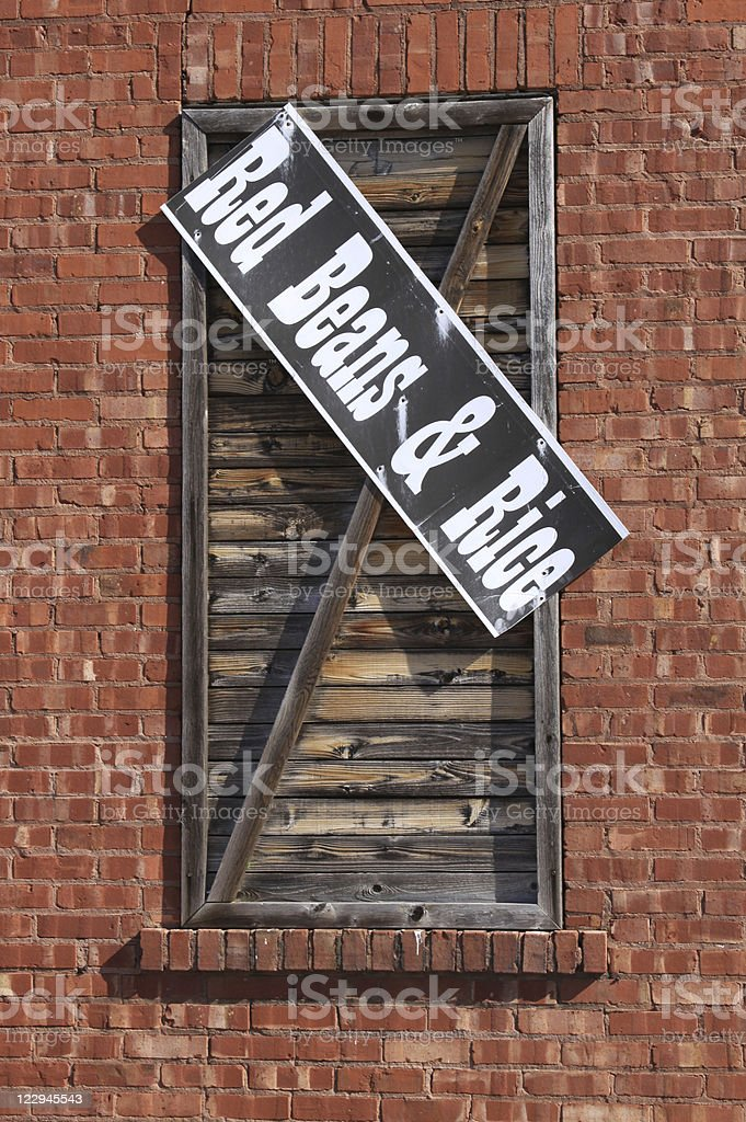 Metal Sign - Red Beans & Rice stock photo