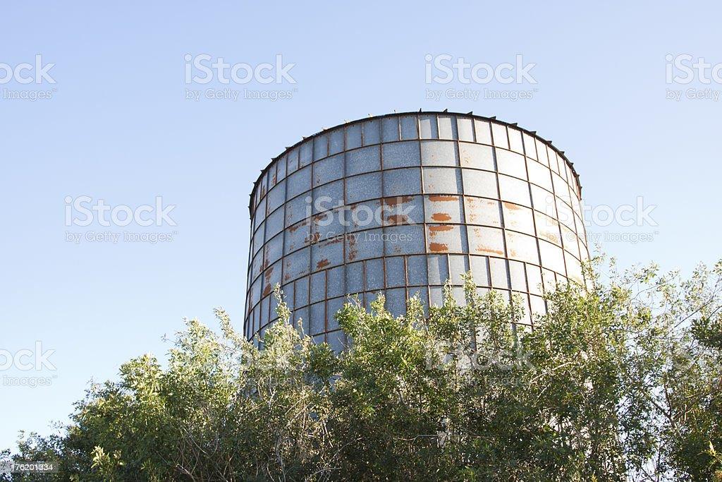 Metal silo stock photo