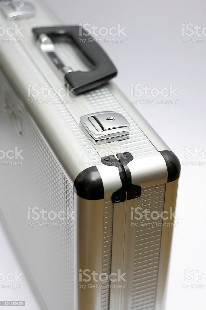 Metal Silver Briefcase royalty-free stock photo