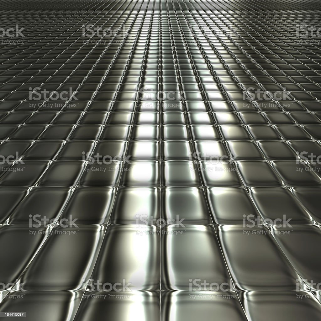 Metal silver checked  pattern stock photo