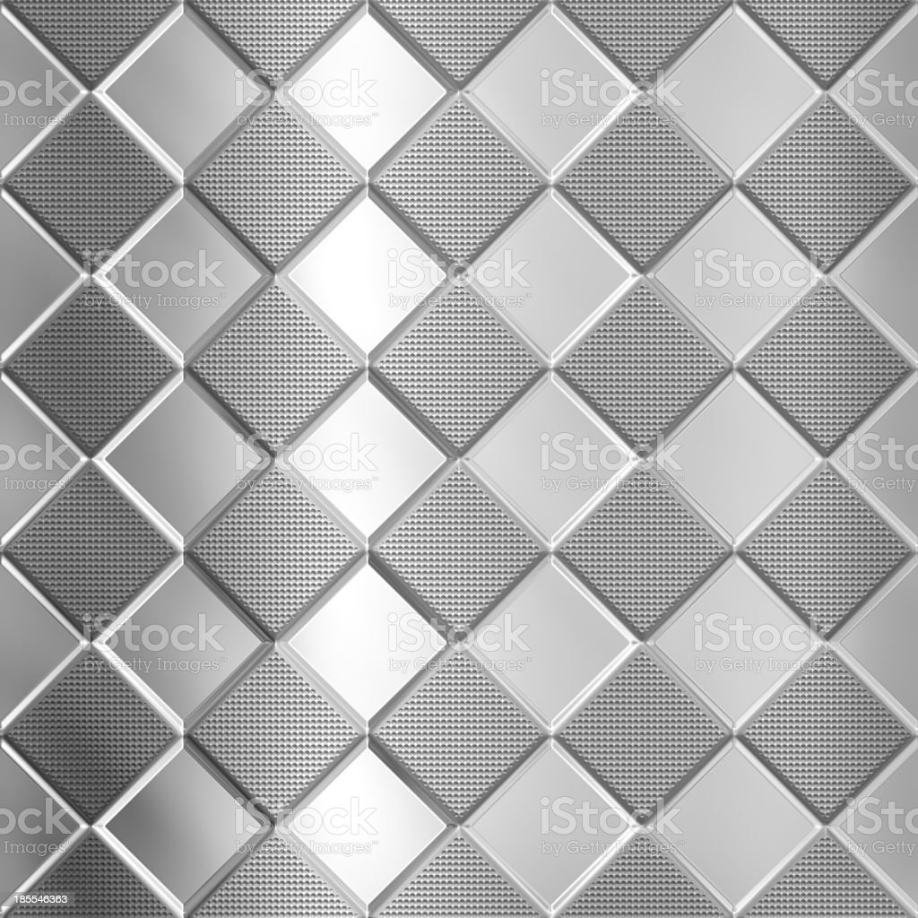 Metal silver checked  pattern royalty-free stock photo