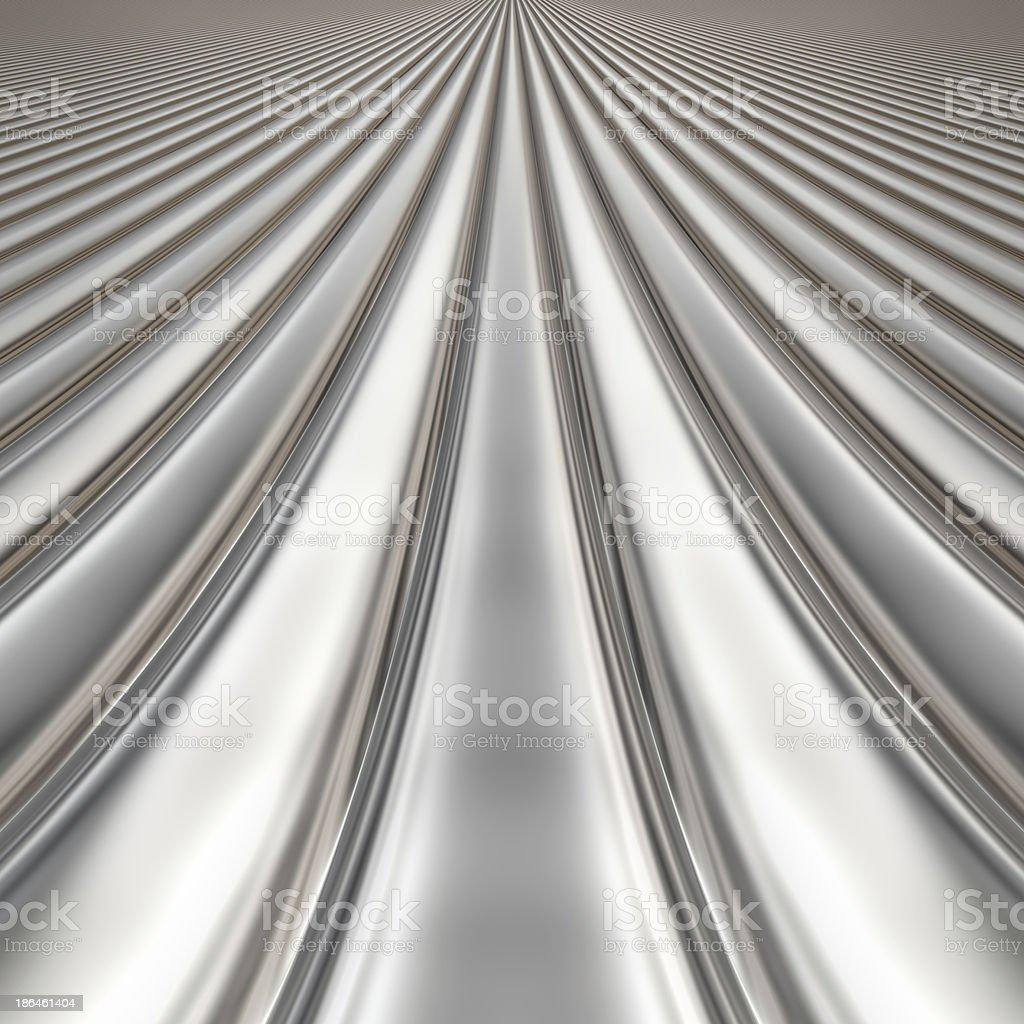 Metal silver striped pattern stock photo