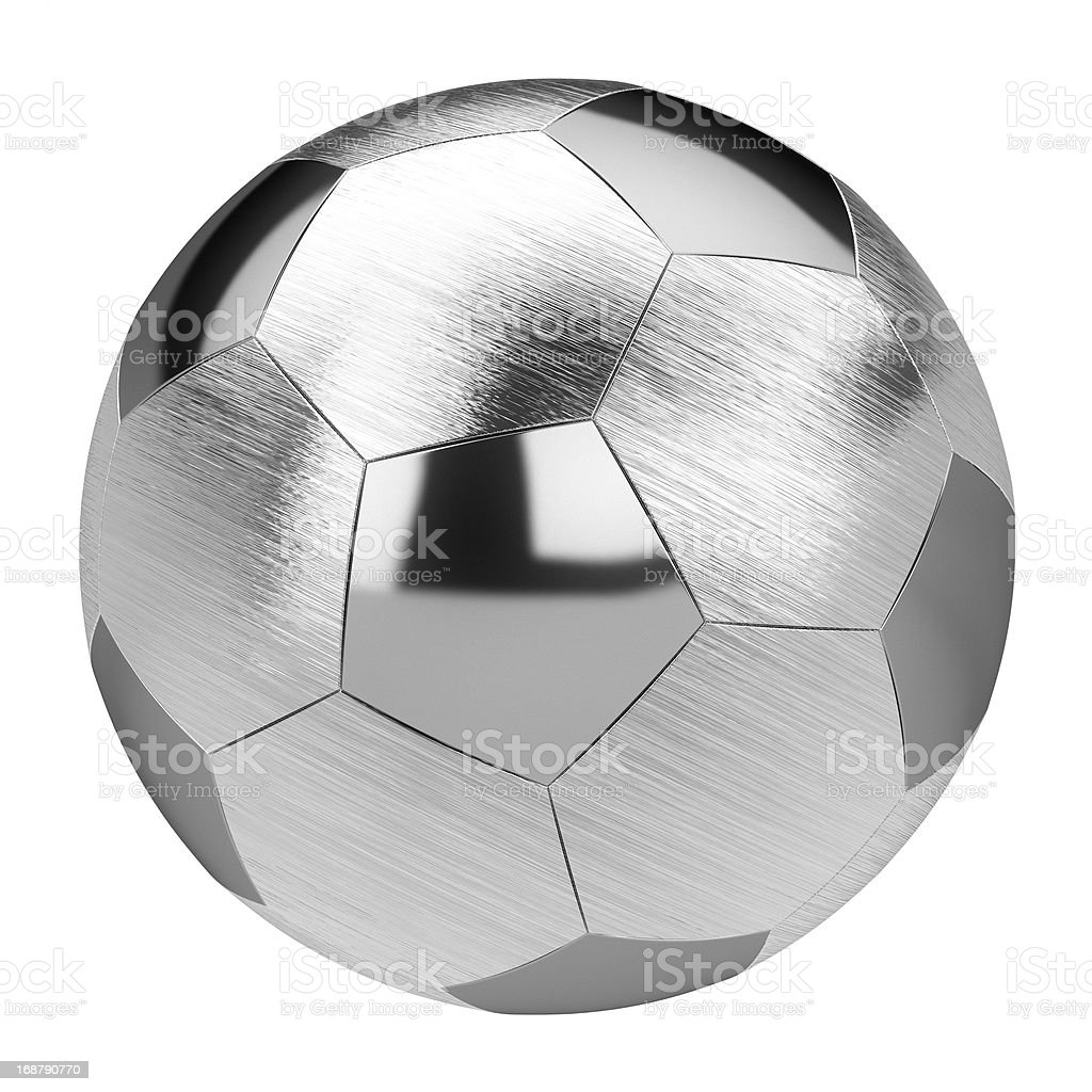 metal soccer ball isolated on white background royalty-free stock photo