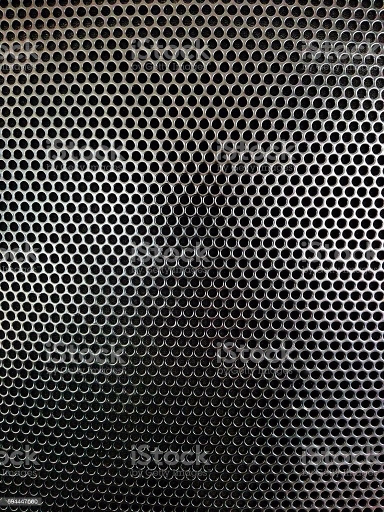 metal speaker grilles stock photo