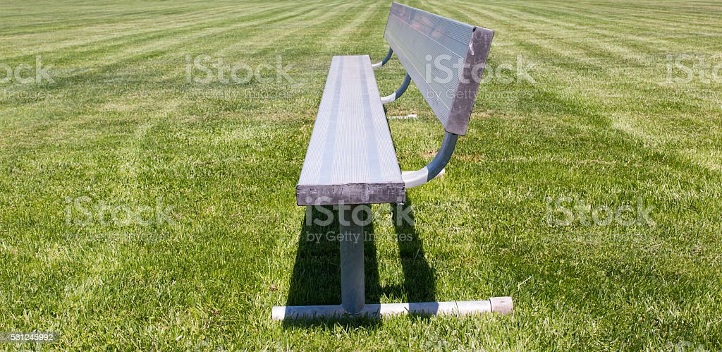 Metal Sports Bench stock photo