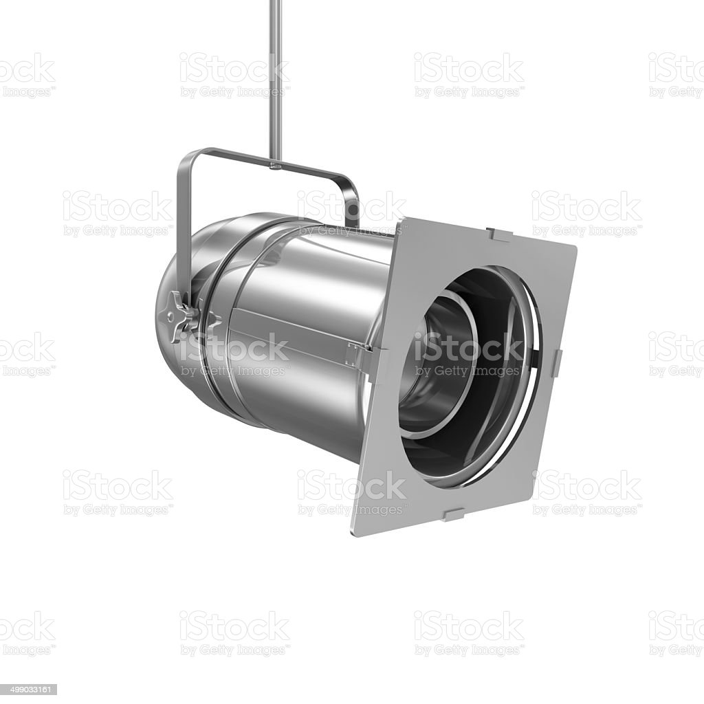 Metal Spotlight isolated on white background stock photo