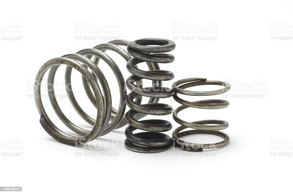 Metal spring coils royalty-free stock photo