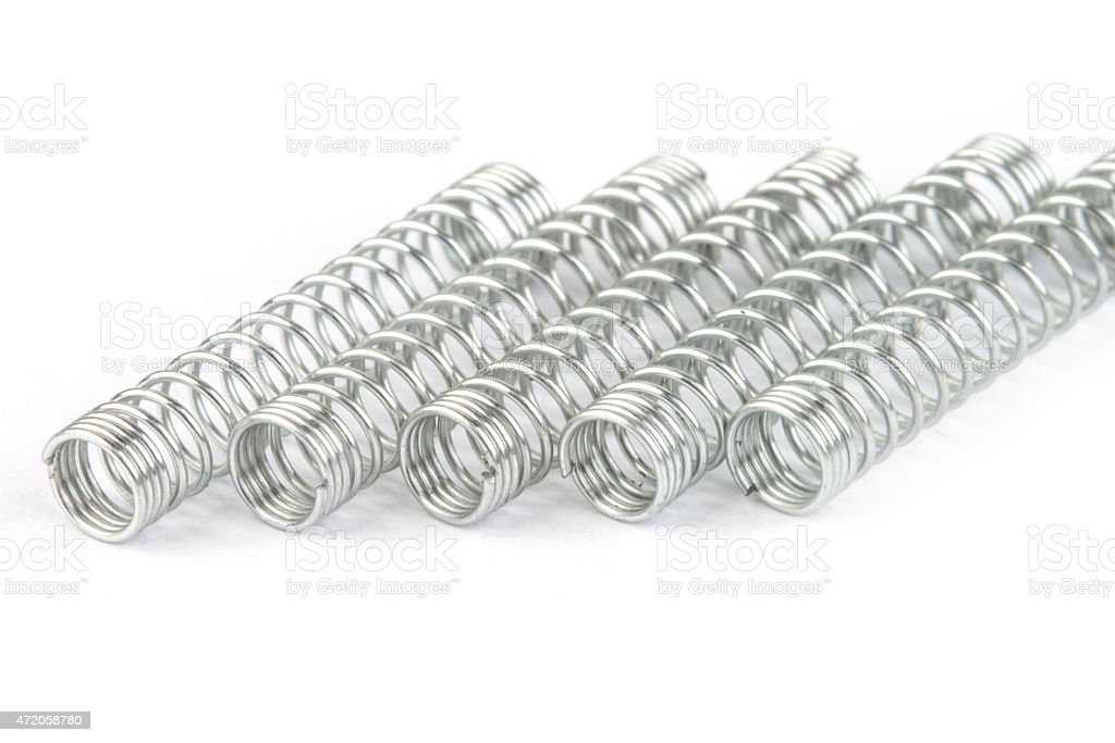 Metal spring stock photo