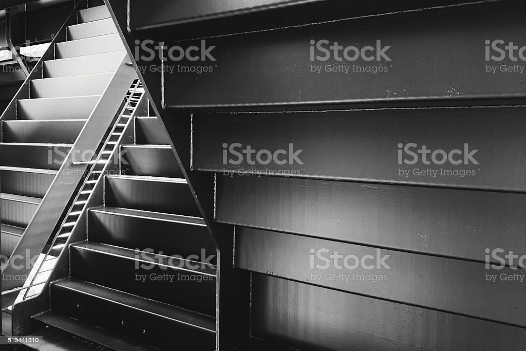 Metal Staircase Up Side Down stock photo
