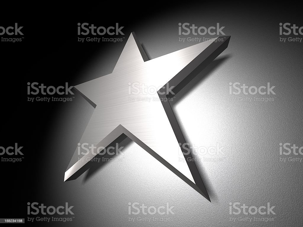 Metal Star Perspective royalty-free stock photo