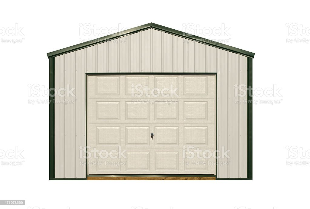Metal Storage Shed royalty-free stock photo