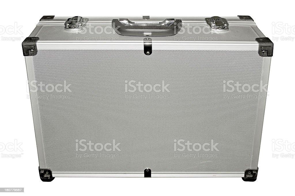 Metal suitcase royalty-free stock photo