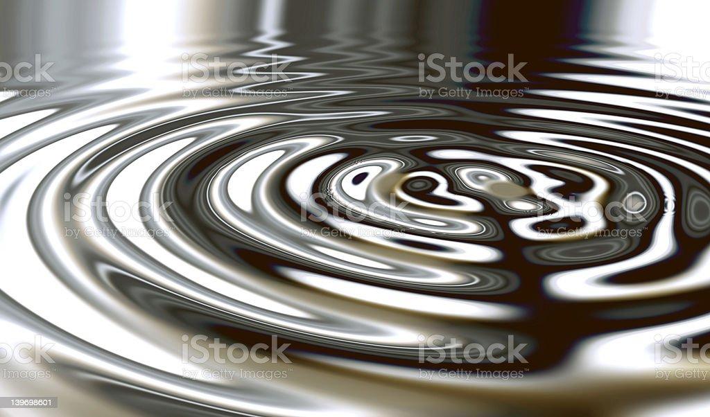 Metal Surface Water stock photo