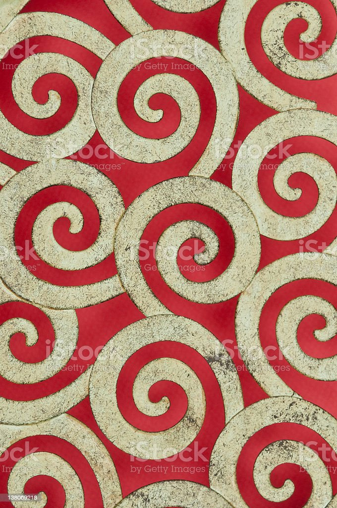 Metal Swirl Pattern royalty-free stock photo