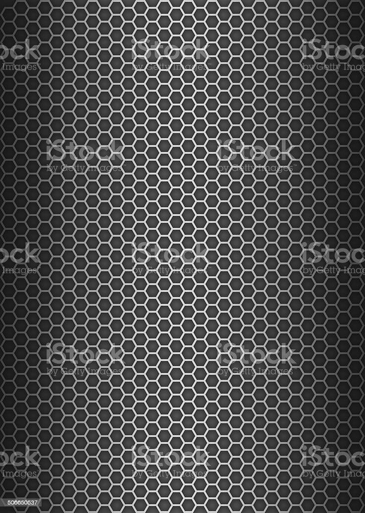 Metal texture honeycomb background stock photo