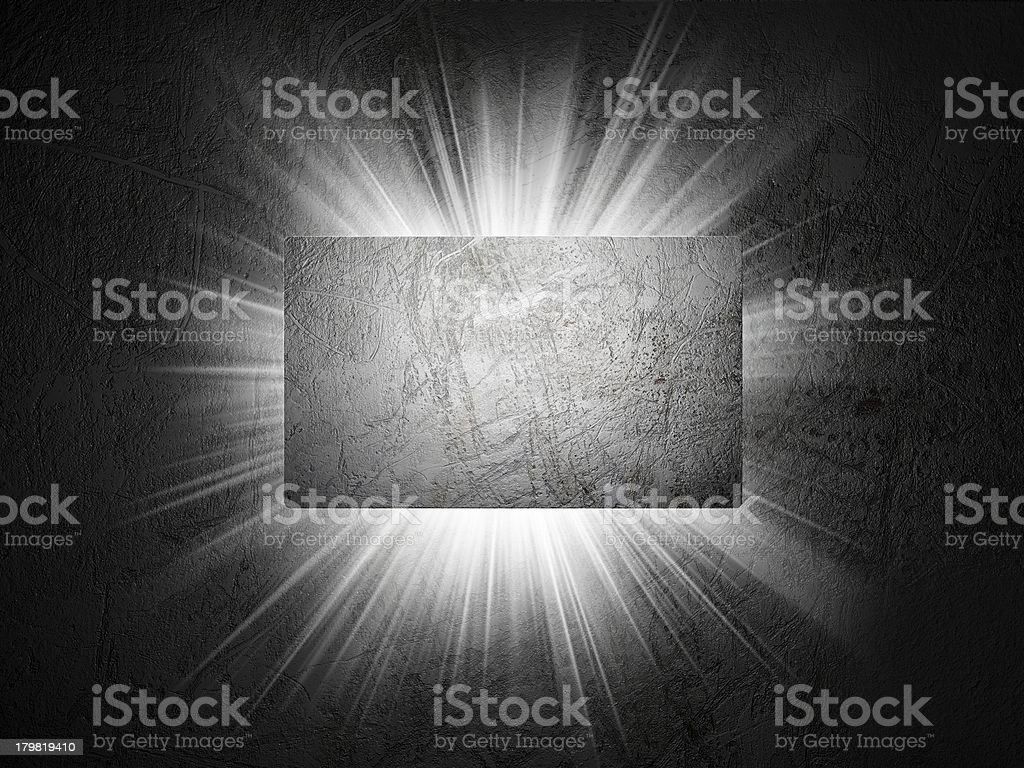 Metal texture of business card 3d presentation royalty-free stock photo
