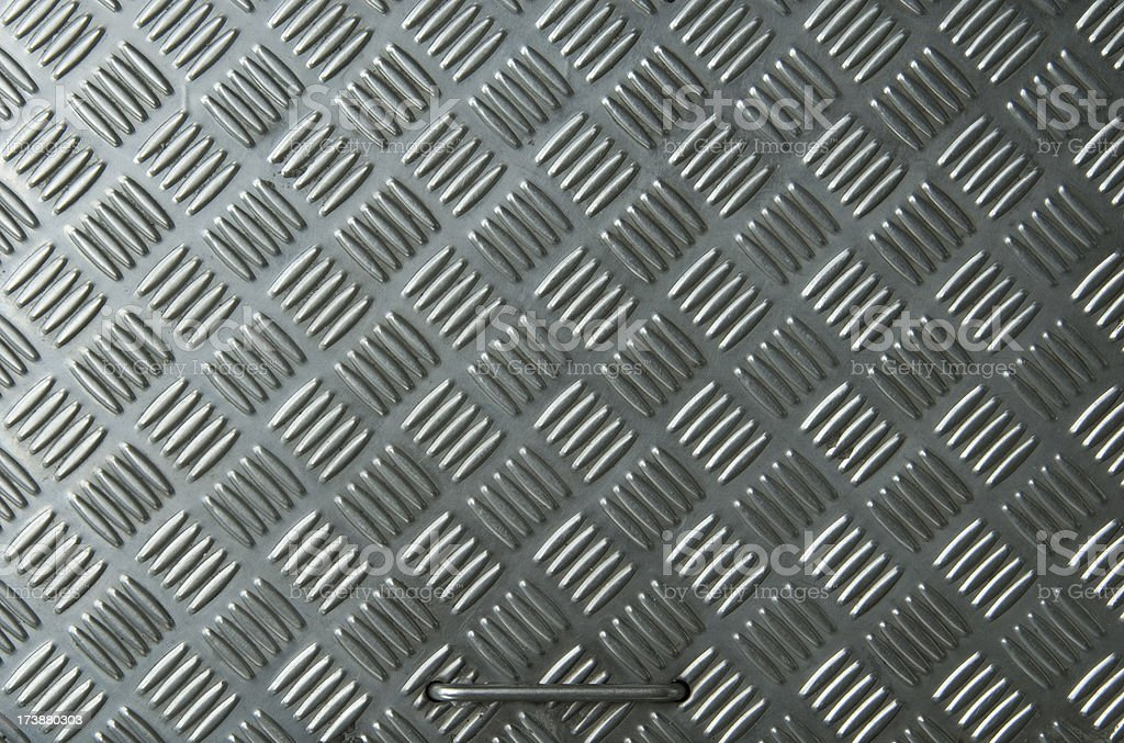 Metal texture with handle royalty-free stock photo
