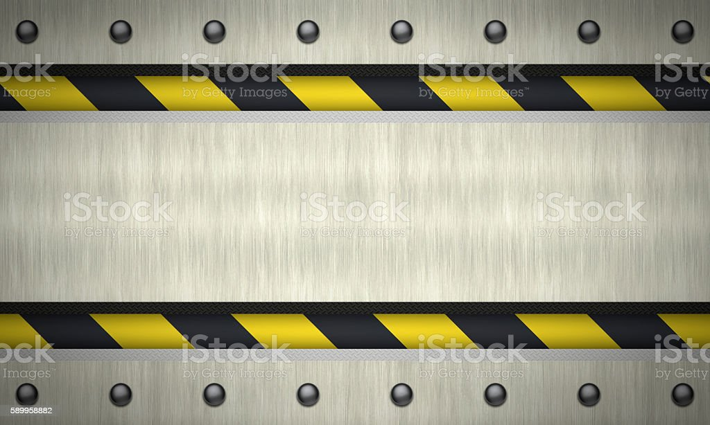 Metal textured background.Riveted plate. stock photo