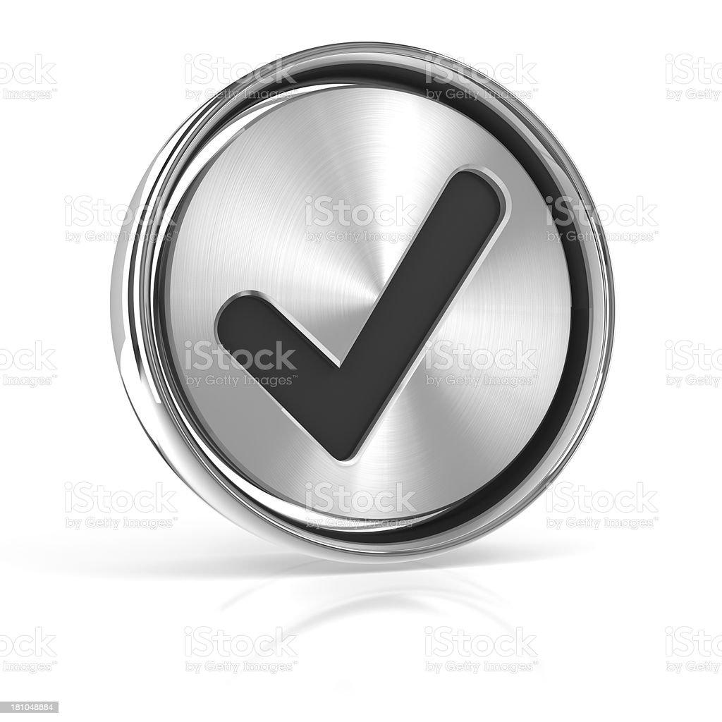 Metal tick icon royalty-free stock photo