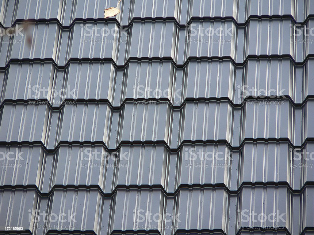 Metal Tiled Roof royalty-free stock photo