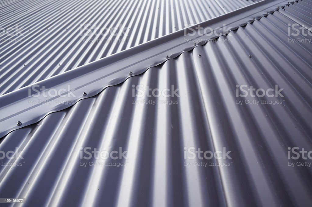 Metal tin roof stock photo