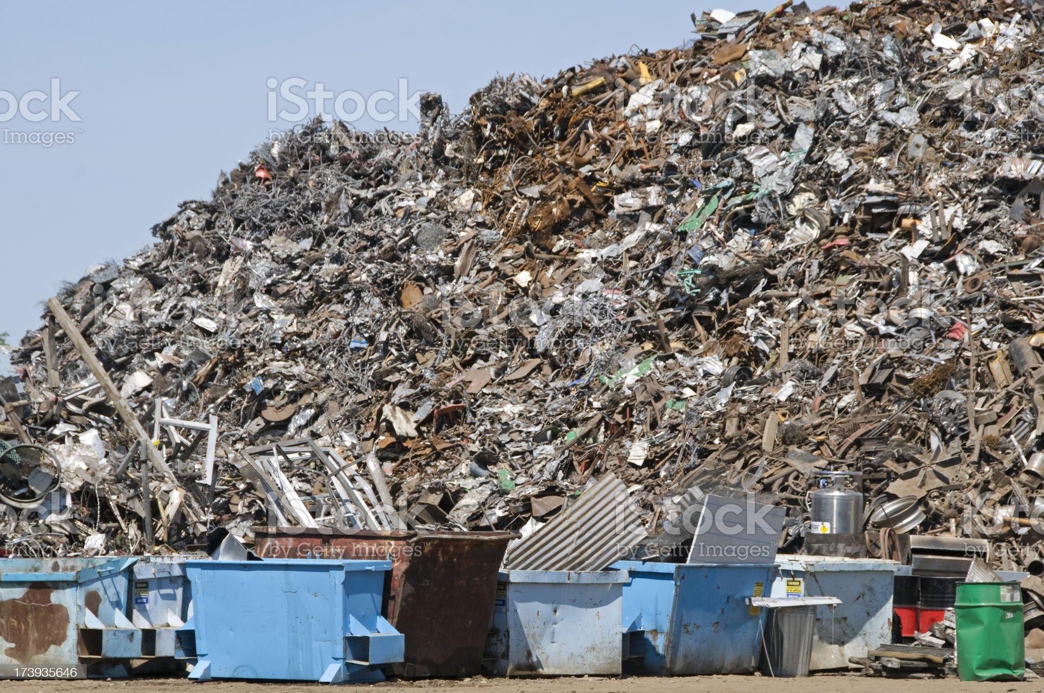 Metal to be recycled royalty-free stock photo