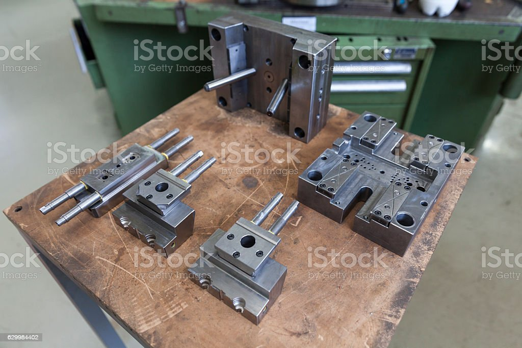Metal tool for molding stock photo