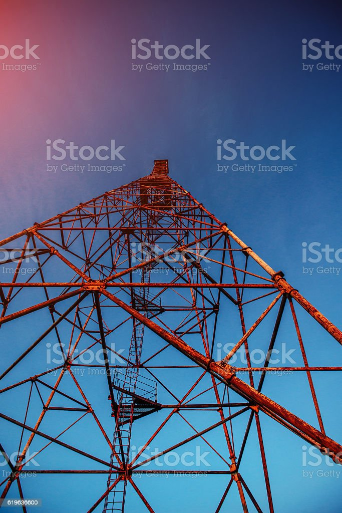 metal tower stock photo