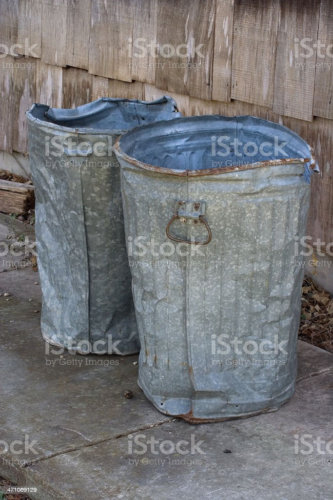 Metal Trashcans royalty-free stock photo