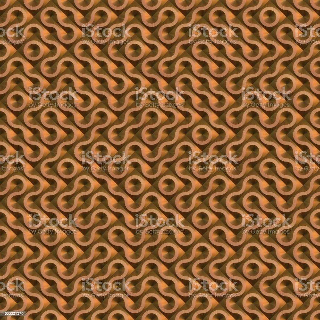 metal truchet texture generated. Seamless pattern. stock photo