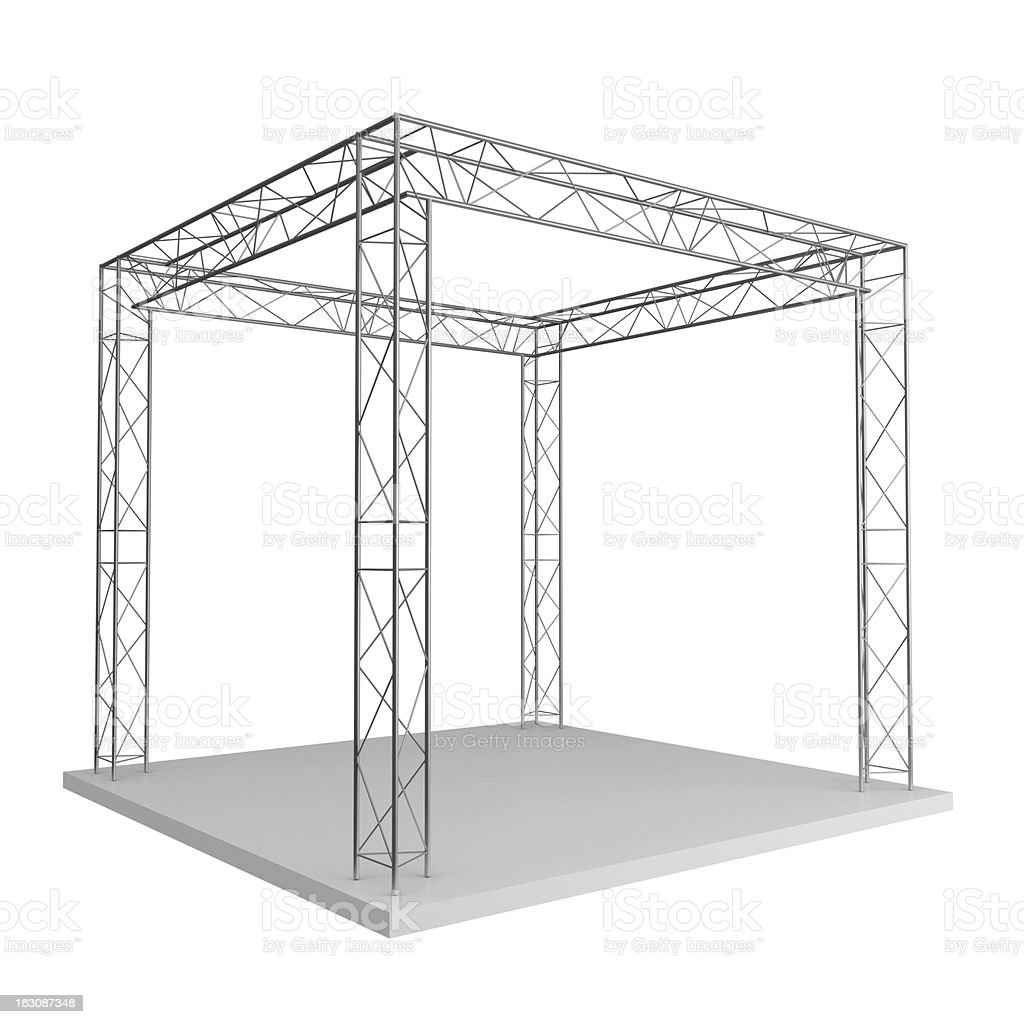 metal trusses royalty-free stock photo