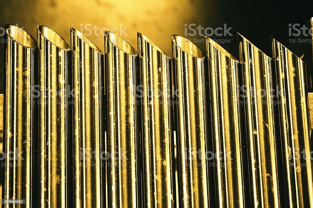 metal tube sharp stock photo