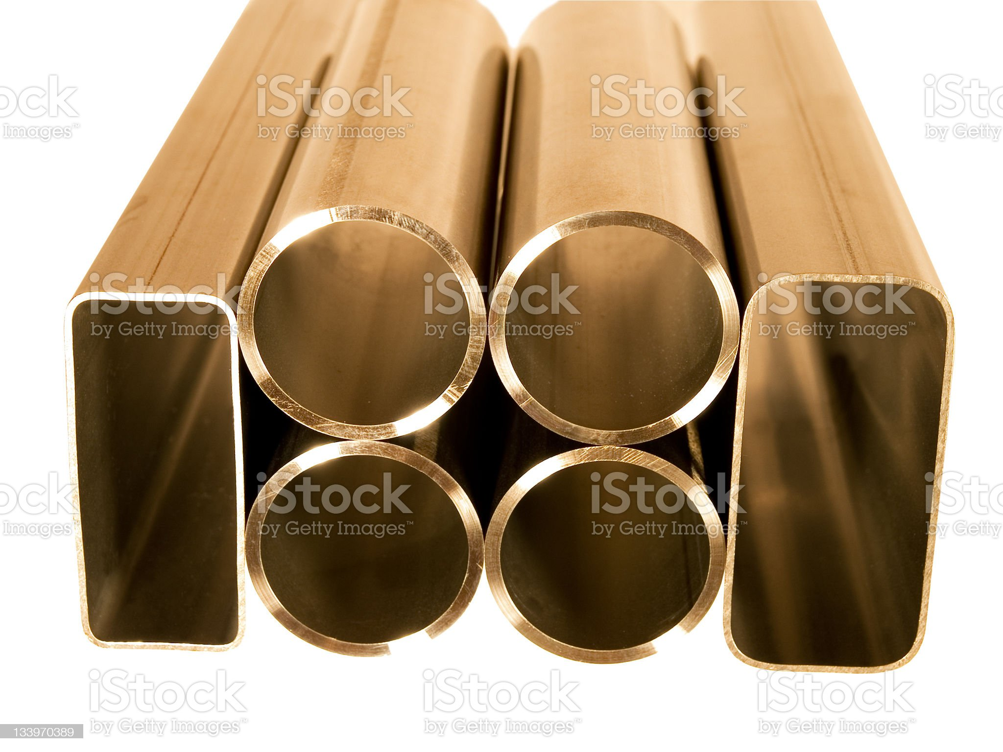Metal tubes royalty-free stock photo