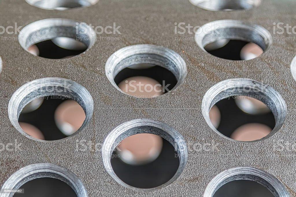 Metal tunnel detail stock photo