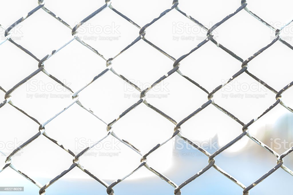 Metal twist fence royalty-free stock photo