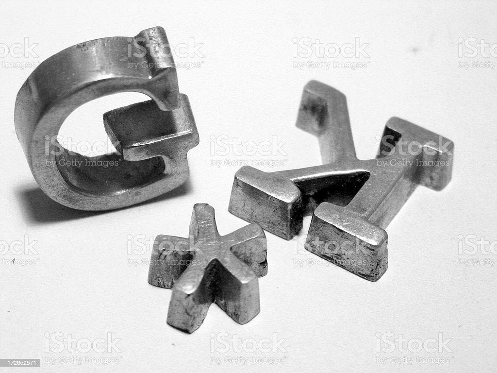 metal type stock photo