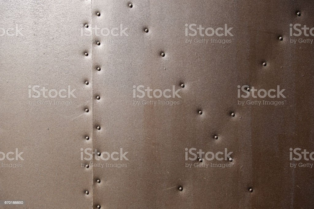 Metal wall details stock photo