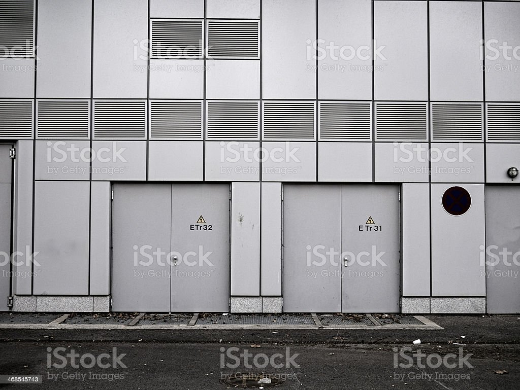 metal wall factory royalty-free stock photo