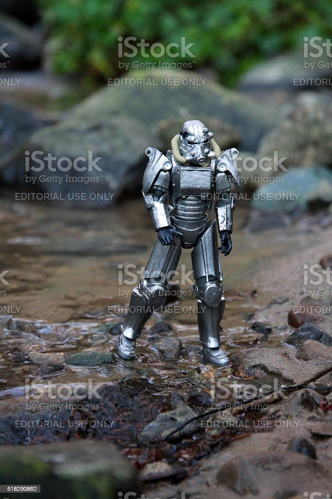 Metal Wanderer stock photo