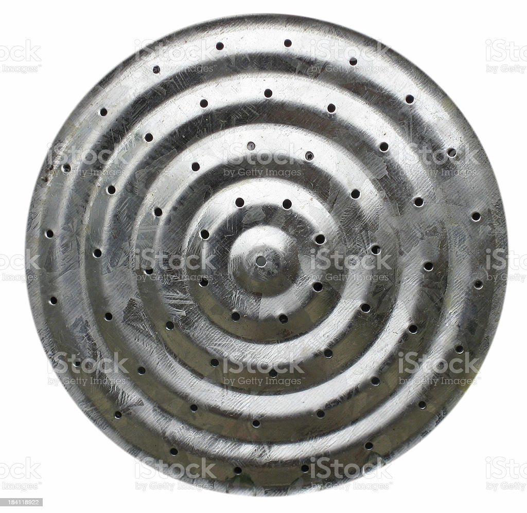 Metal watering can sprinkle head royalty-free stock photo