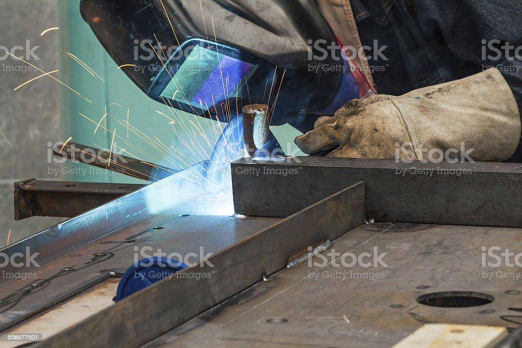 Metal welding stock photo