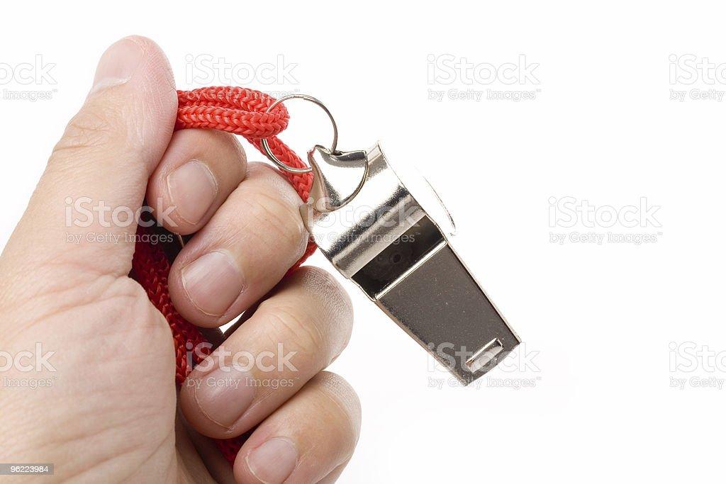 metal Whistle stock photo