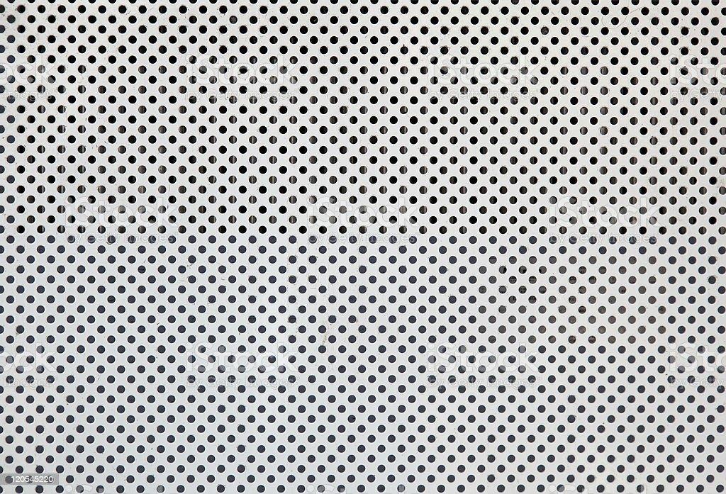 Metal white plate of circles royalty-free stock photo