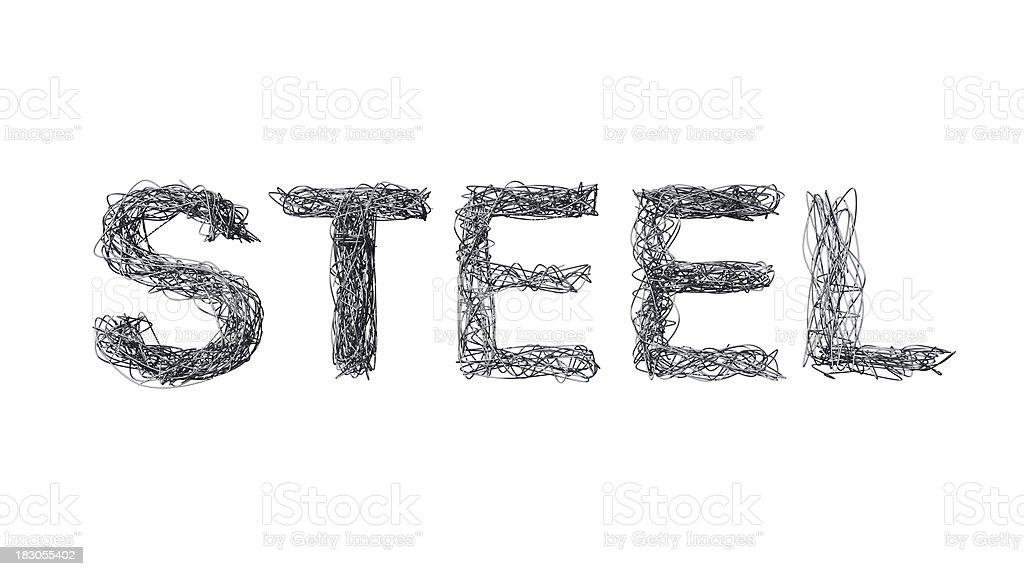 Metal Wires spelling STEEL royalty-free stock photo