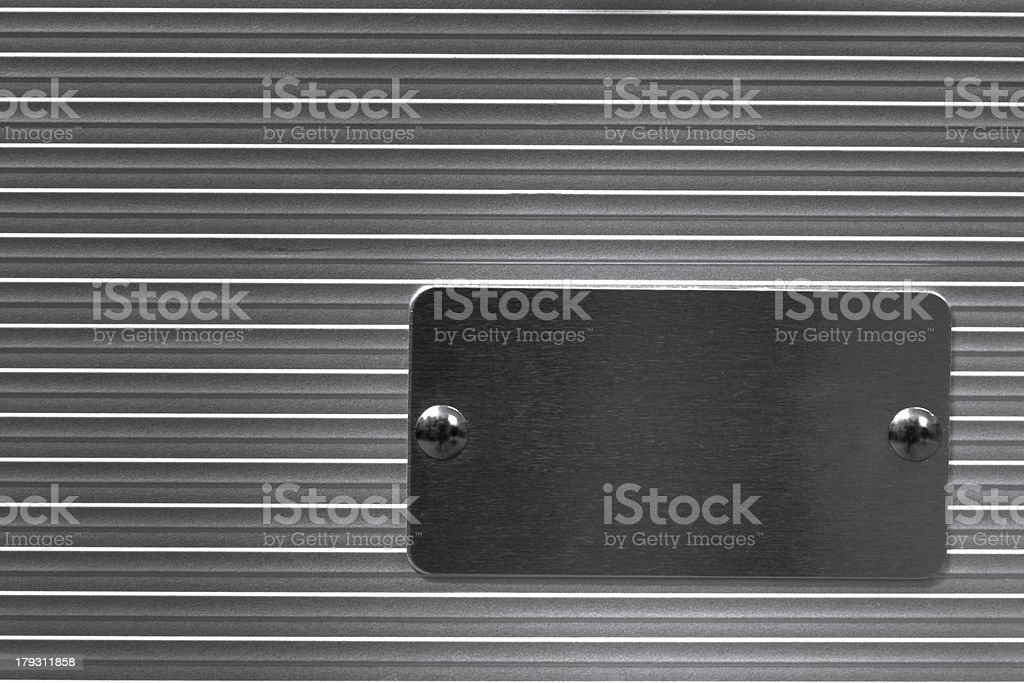 Metal with empty nameplate royalty-free stock photo