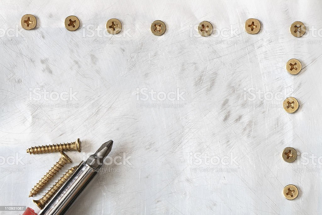 Metal With Screws stock photo
