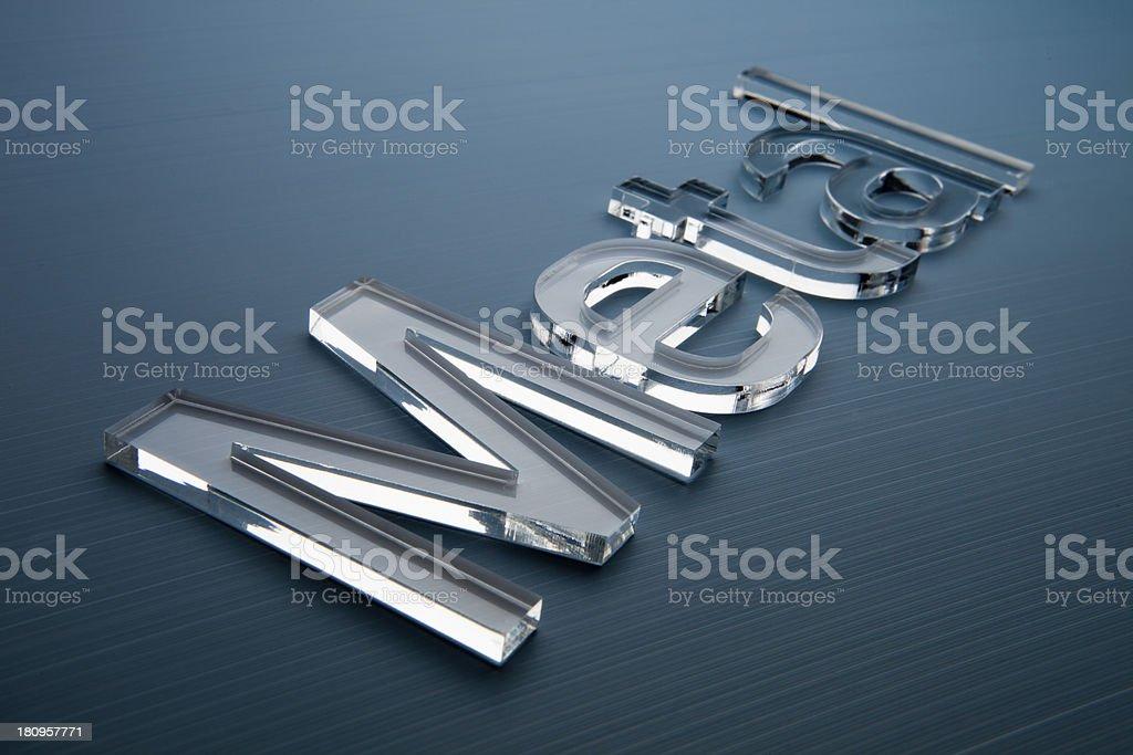 metal word royalty-free stock photo