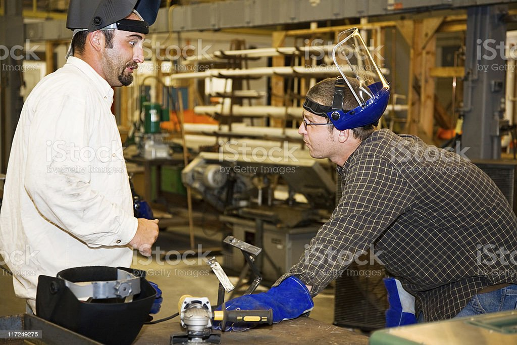 Metal Worker and Supervisor royalty-free stock photo