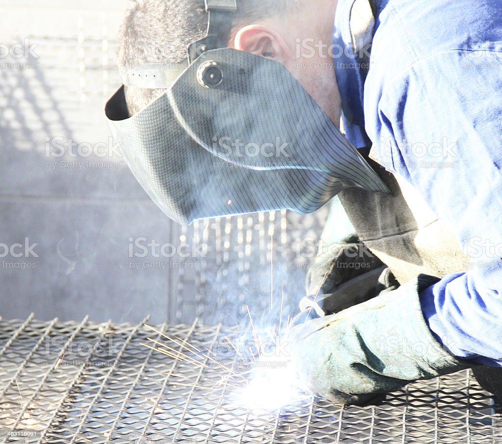 Metal worker stock photo